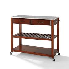 28 stainless steel kitchen island cart crosley furniture stainless steel kitchen island cart crosley furniture stainless steel top kitchen cart island