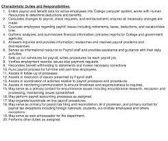payroll responsibilities payroll administrator job description