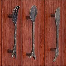 bouton de placard cuisine bronze cuillère couteau fourchette d armoires de cuisine poignées