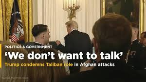 Flag Of The Taliban Trump Condemns Taliban Role In Afghan Attacks Says No Talks