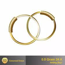 anting emas 24 karat anting emas bayi 24 k 0 5 gr membeli jualan online anting