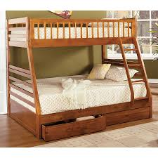 Shop Furniture Of America California Oak Twin Over Full Bunk Bed - Furniture of america bunk beds