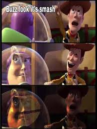 Woody And Buzz Meme - buzz look it s smash buzz lightyear internet meme know your