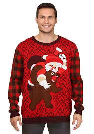 santa suit camo sweater custom sweaters