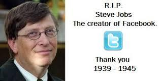 Steve Jobs Meme - r i p steve jobs the creator of facebook t memerial net