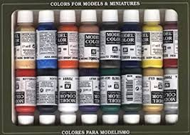vallejo model color napoleonic acrylic paint set assorted