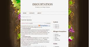 free blogspot blog templates degustation blogspot template