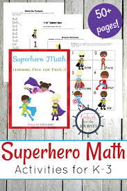 early learning printable superhero math activities