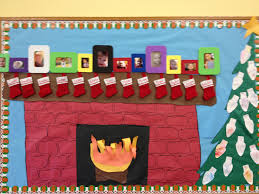 christmas fireplace bulletin board pinterest