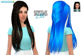 sims 4 blue hair skysims hair 233 retexture at nessa sims sims 4 updates sims 4