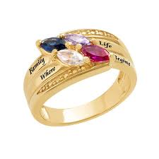 mothers ring with birthstones gold plated mothers ring with birthstones mynamenecklace