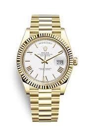 rolex day date 40 18 ct yellow gold 228238