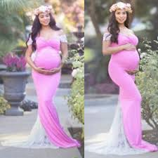 maternity photo props women maxi dresses slit maternity gown photography props