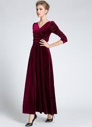 medeshe women u0027s emerald green christmas long velvet maxi dress at