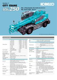 rk250 kobelco cranes co ltd pdf catalogue technical