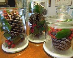 Rustic Christmas Centerpieces - rustic christmas centerpiece in a jar this natural dream