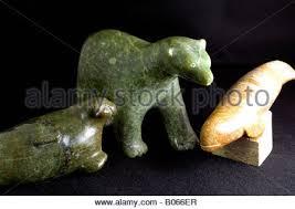 eskimo soapstone carvings inuit soapstone carving of a polar stock photo royalty free