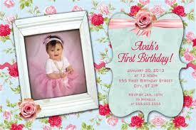 shabby chic first birthday party invitations
