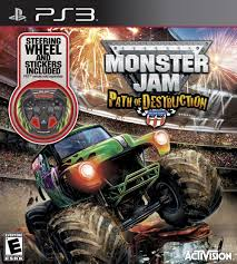 play online monster truck racing games amazon com monster jam path of destruction with custom wheel