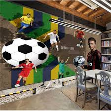 compare prices on custom wallpaper murals soccer online shopping