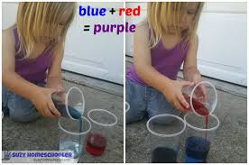 saturday science color mixing suzy homeschooler