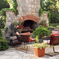 Outdoor Chimney Fireplace by Designscapes East Patchogue Ny Outdoor Fireplaces