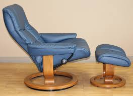 stressless kensington large mayfair paloma oxford blue leather