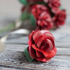 make a red long stemmed paper rose for valentine u0027s day