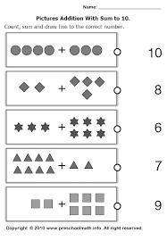 math worksheets kindergarten addition free worksheets library