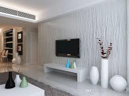 Grey Silver Sofa Wholesale Non Woven Fashion Thin Flocking Vertical Stripes
