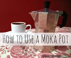how to use a moka pot