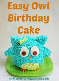 owl birthday cake or smash cake so easy