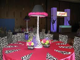 lamp centerpieces custom dance themed centerpieces with zebra print spandex lamp