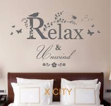 popular word art decor buy cheap word art decor lots from china relax unwind quote creative vinyl wall decal art decor sticker room stencil mural s m l china