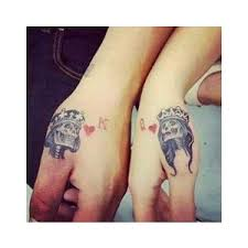40 king queen tattoos that will instantly make your relation