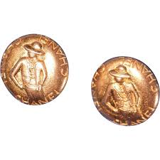 golden earrings vintage chanel s 90 s clip on golden earrings from lesparisiennes