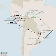 Brazil On South America Map by Amazon Jungle Tour U0026 Nazca Lines Tour Globus Tours