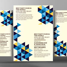 geomatrik flyer poster templates abstract bundle limpo arquivo