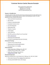 Example Resume For Cashier by Resume For Cashier Resume For Your Job Application