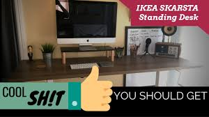 Standing Height Desk Ikea by Ikea Skarsta Sit Stand Desk Review Cool Sh T You Should Get