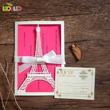 Eiffel Tower Invitations Online Get Cheap Eiffel Tower Invitations Aliexpress Com