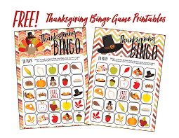 free thanksgiving bingo family printable downloads