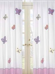 Pink And Purple Curtains Butterfly Window Curtains Panels Pink Purple Set Of 2 Drapes
