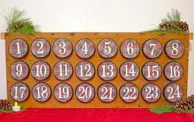 christmas advent calendar rustic christmas advent calendar chica and jo