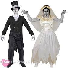 his and hers costumes couples ghost groom fancy dress costumes his hers