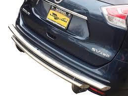 nissan rogue rear bumper protector 08 15 rogue select rear bumper protector guard double layer s s