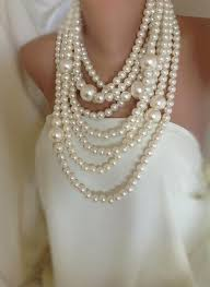 chunky pearl fashion necklace images Huge pearl necklace chunky multi strand statement pearl necklace jpg