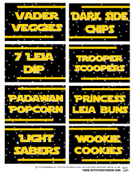 may the 4th be with you star wars food free printables over