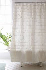 Luxury Shower Curtain White Cotton Bathroom Awesome White Ruffle Shower Curtain For Excellent