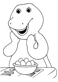 barney coloring pages printable eliolera